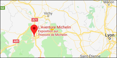 carte acces a l'Aventure Michelin